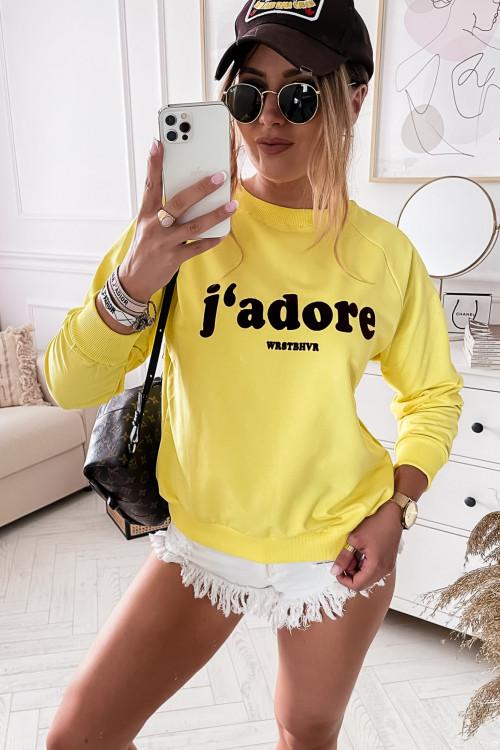 Bluza bawełniana JADORE LIFESTYLE summer yellow
