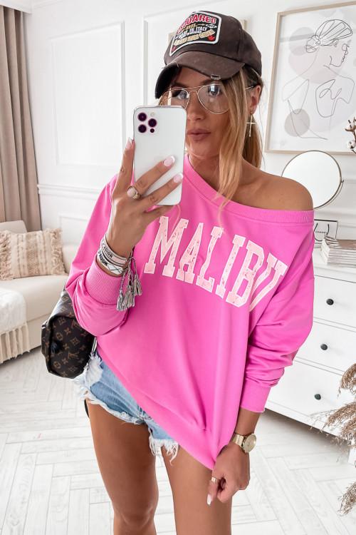 Bluza bawełniana MALIBU candy pink