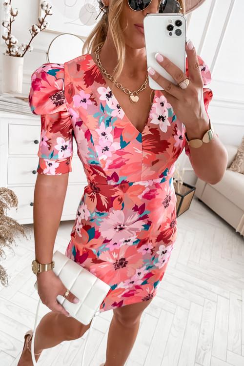 Sukienka FRATELLO FLOWERS pink