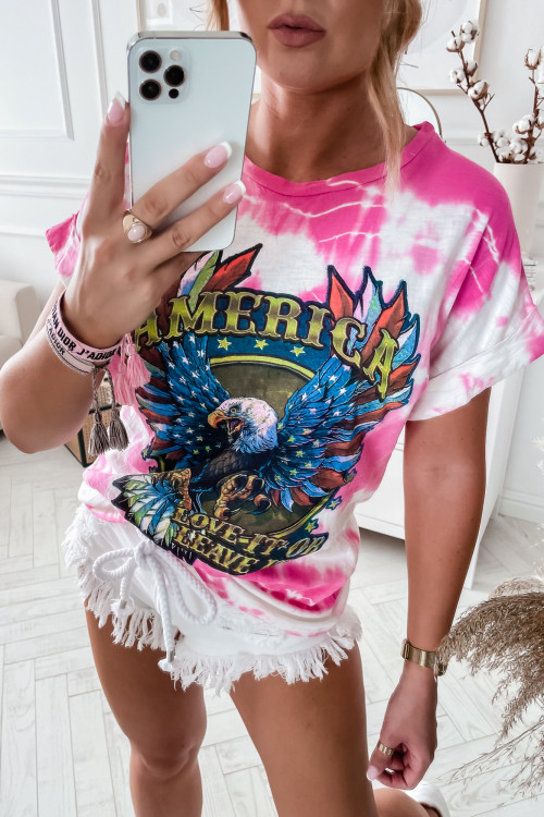 Tshirt OMBRE America EAGLE pink