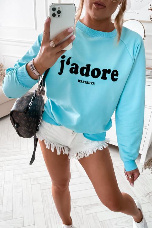 Bluza bawełniana JADORE LIFESTYLE summer ocean blue