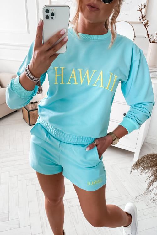 Komplet DRESOWY HAWAII YELLOW spring MINT BLUE