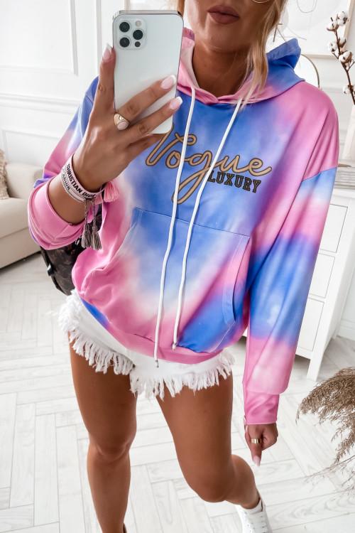 Bluza CIENIOWANA Vogue Luxury PINK