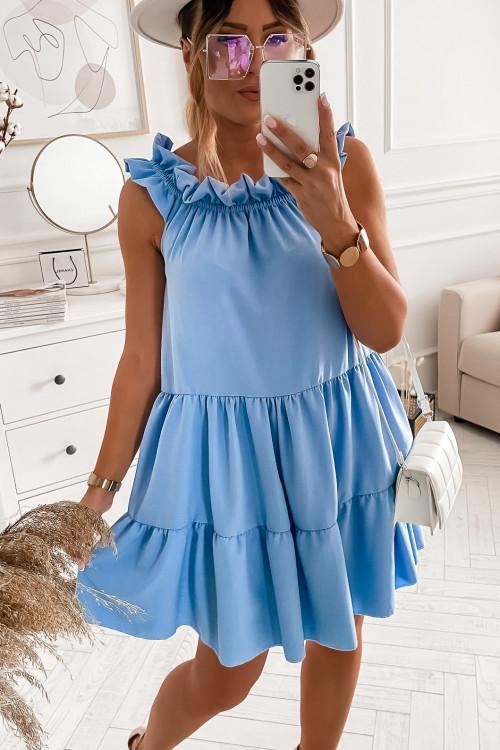 Sukienka SAMPLE ELEGANCE baby blue