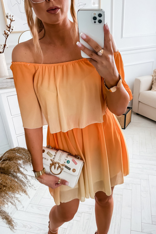 Sukienka BARI SUMMER OMBRE orange