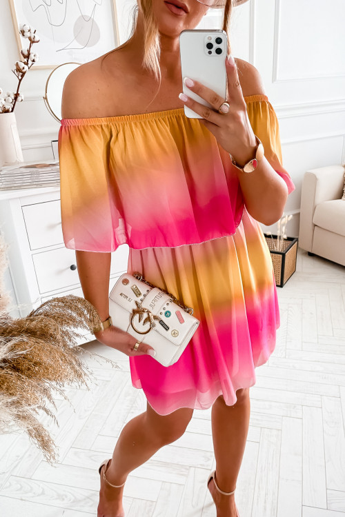 Sukienka BARI SUMMER OMBRE colorful