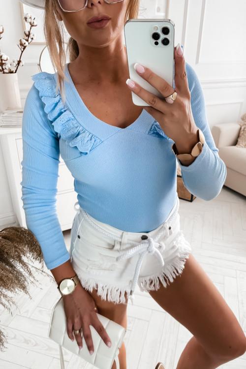 Bluzka MEDIOLAN SUMMER boho baby blue