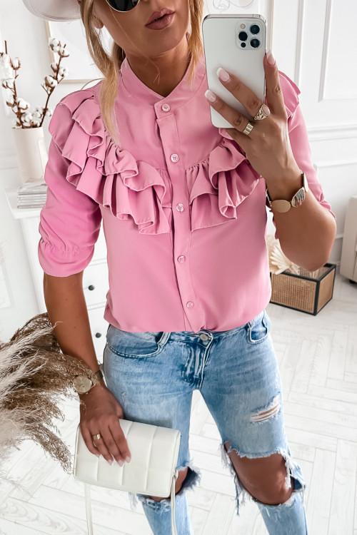 Koszula MADAMME elegance pudrowy róż