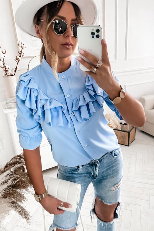 Koszula MADAMME elegance baby blue