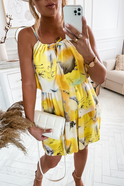 Sukienka BALI SUMMER yellow cieniowana