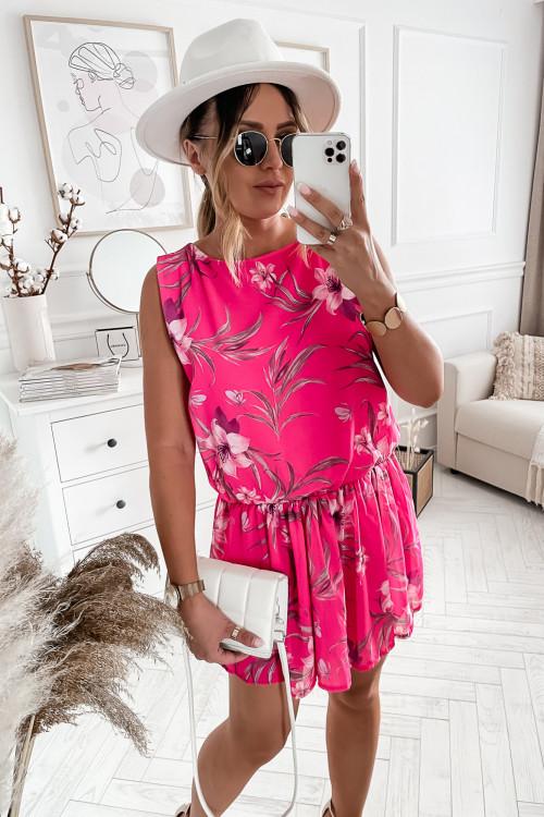 Sukienka SUMMER EXOTIC LOOKA purple FUKJSA