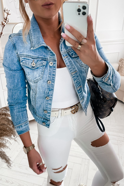 Katana jeansowa ze stretchem TAYGA DENIM light blue