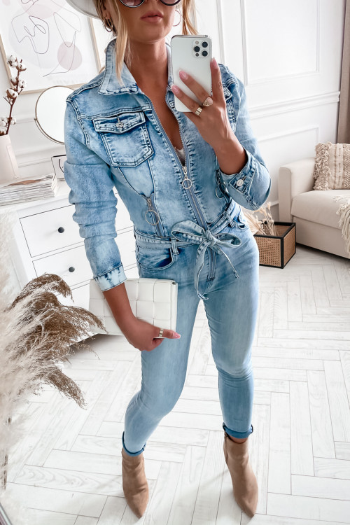 Kombinezon DIVERLY DENIM VINTAGE stretch jeans