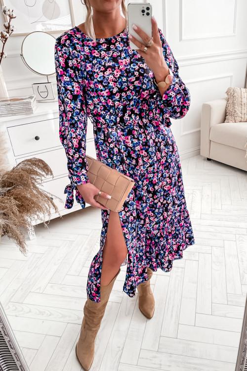 Sukienka ANNAH VINTAGE FLOWERS maxi