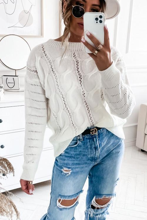 Sweter MENTIS WARKOCZ kremowy