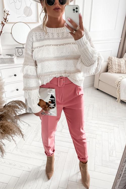 Sweter PEARLS PRETTY kremowy