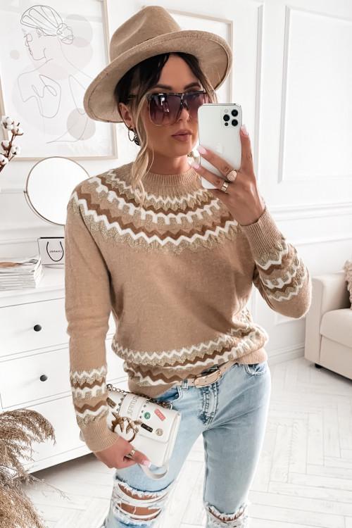 Sweter PIANNO PRETTY nude beige