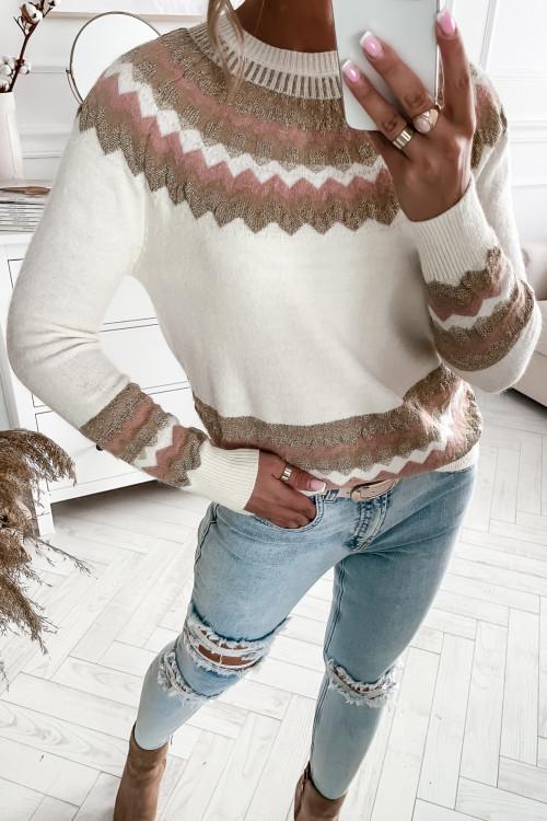 Sweter PIANNO PRETTY kremowy