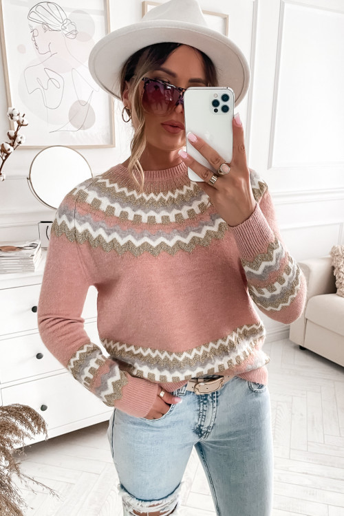 Sweter PIANNO PRETTY pudrowy