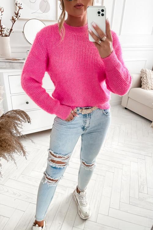 Sweter LARREN FLUFFY pink