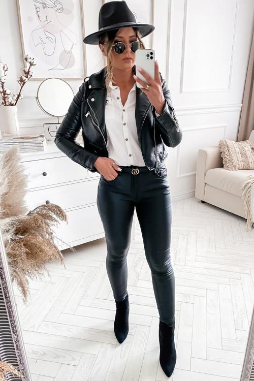 Spodnie WOSKOWANE CLARRISO black classic