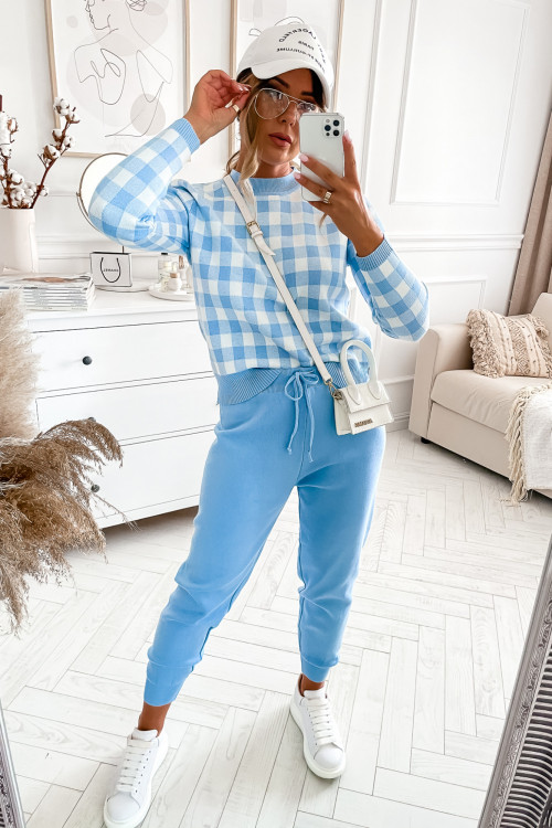 Dres SWETERKOWY PONTEBBA baby blue