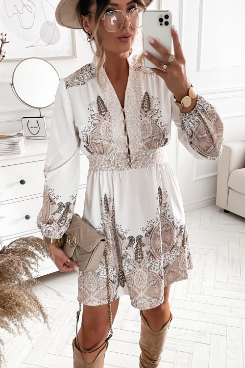 Sukienka ROSSALIO we wzory ELEGANCE and pretty