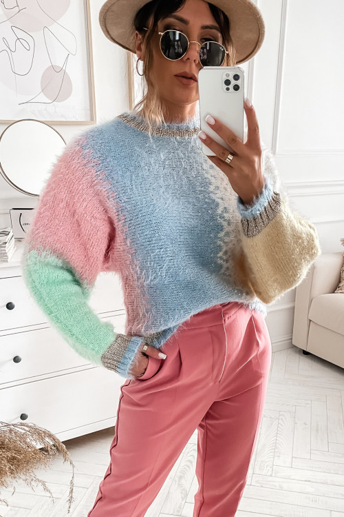 Sweter FLUFFY MULTICOLOR