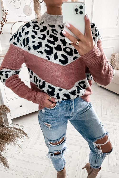 Sweter RUBY PANTHERS powder pink