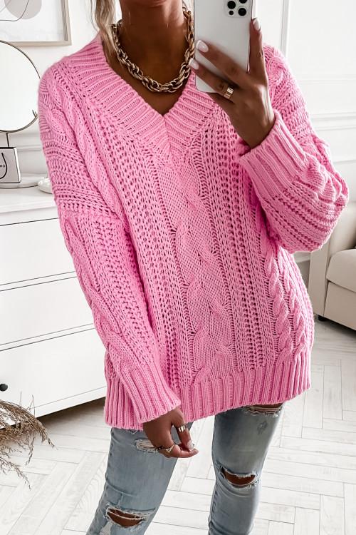 Sweter MAYA WARKOCZ Candy PINK