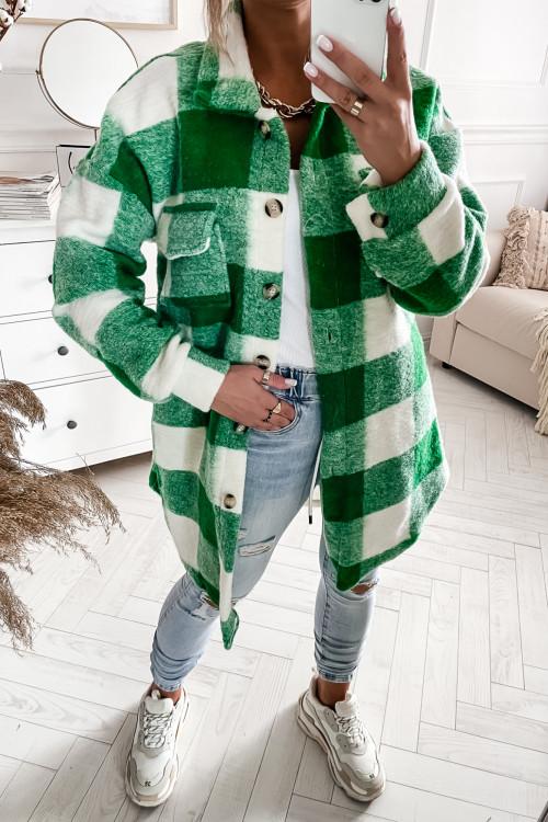 Płaszcz KATANA w modną kratę VICKY GREEN