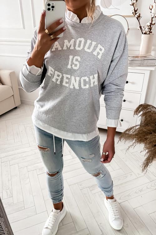 Bluza z koszulą AMOUR is FRENCH