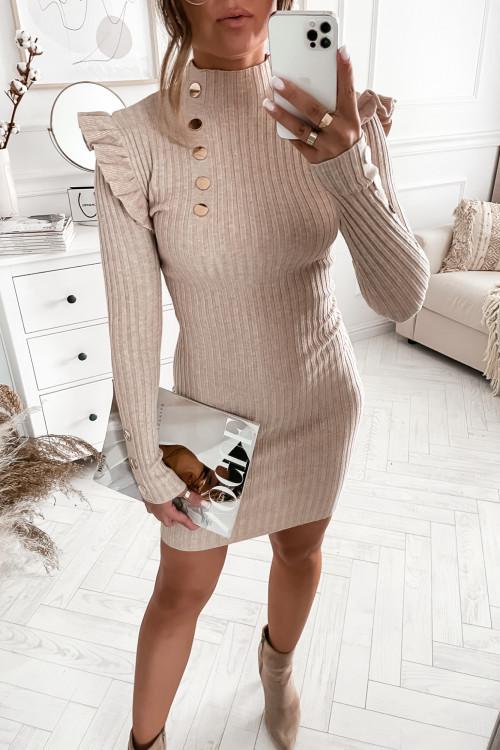 Sukienka LENSI BODYCON PRETTY nude beige