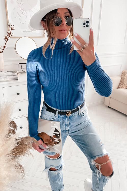 Golfik BASIC BODYCON blue jeans