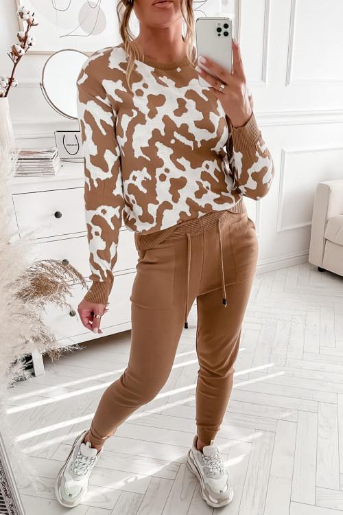 Dres sweterkowy HILTOLIN beige