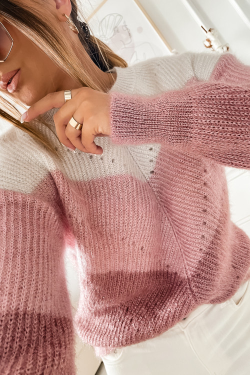 Sweter NUDE PUDROWY fluffy