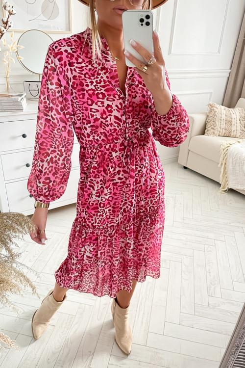 Sukienka FLORIS PANTHERS pink