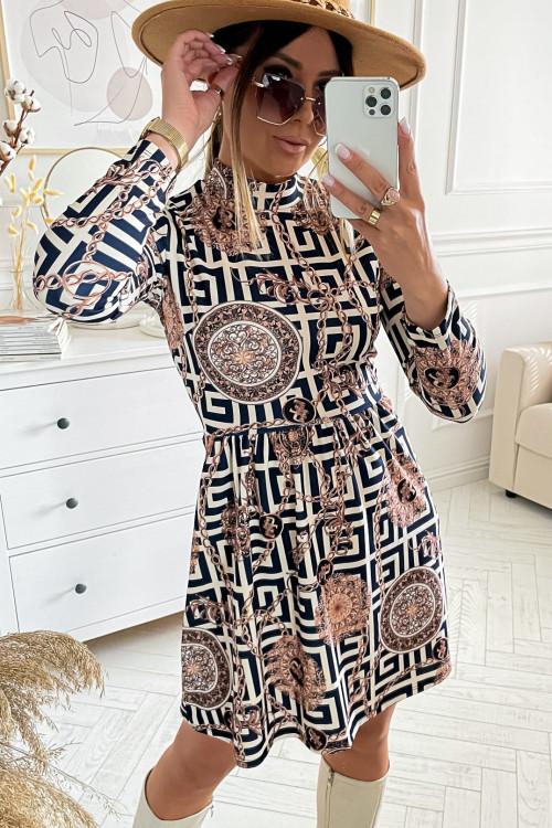 Sukienka GLORI AZTECK we wzory