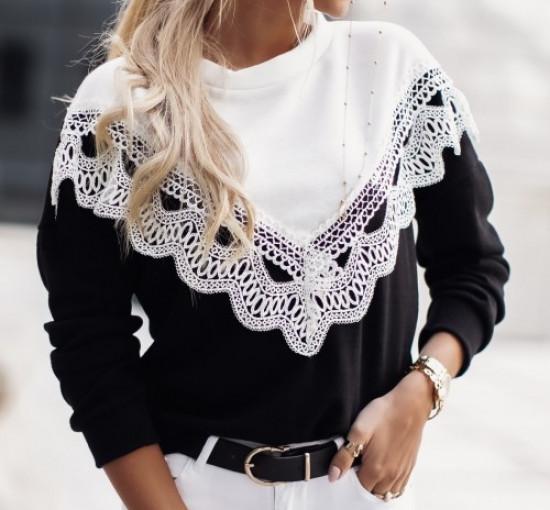 Bluzki i swetry z koronką. Boho w najlepszym wydaniu